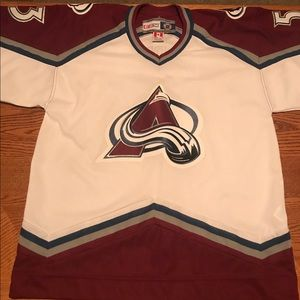 EUC NHL CO Avalanche Official Licensed Jersey